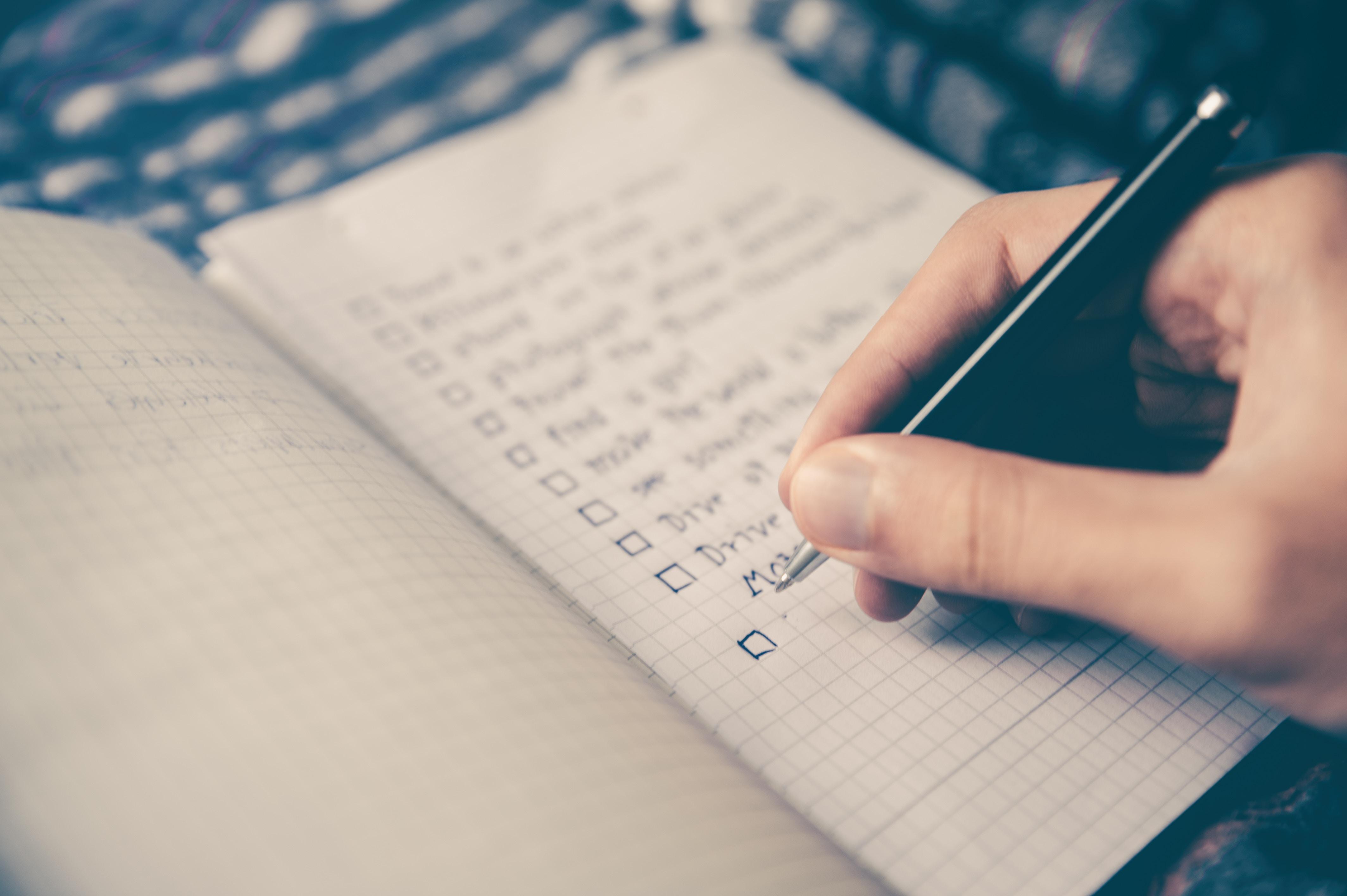 Best Giveaways: Checklist
