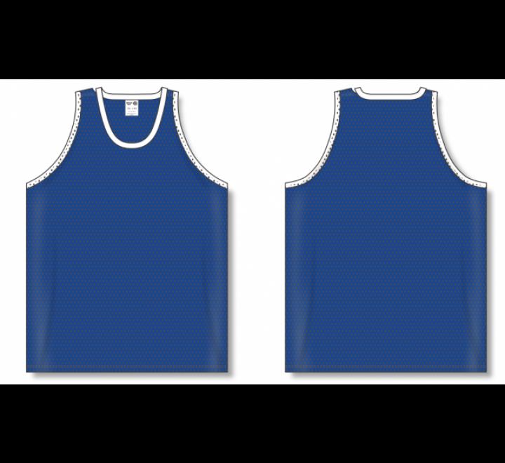 Polymesh TradItional Cut Basketball Jerseys - royal