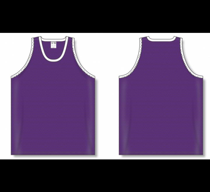 Polymesh TradItional Cut Basketball Jerseys - Purple