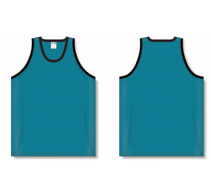Polymesh TradItional Cut Basketball Jerseys - Teal