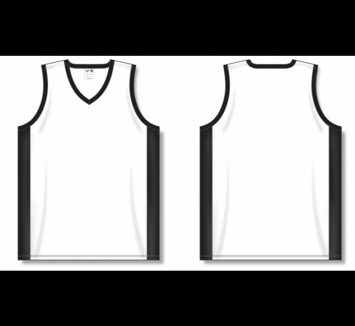 Dry-Flex Pro Cut with Inserts Basketball Jerseys - White/Black