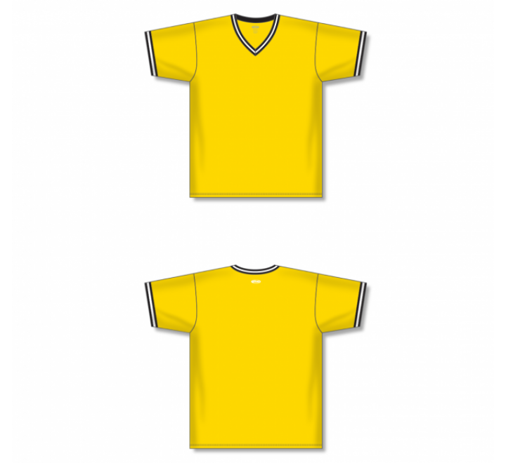 V-Neck Baseball Jersey - Maize