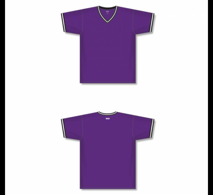 V-Neck Baseball Jersey - Purple
