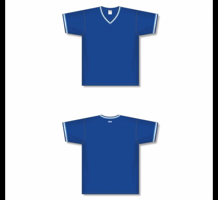 V-Neck Baseball Jersey - Royal