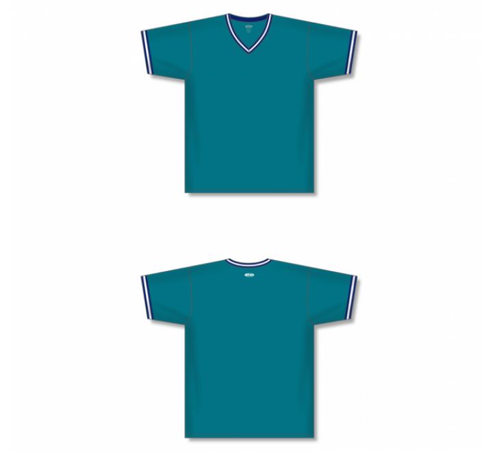 V-Neck Baseball Jersey - Pacific Teal