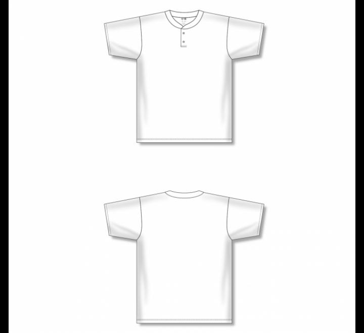 Two-Button Baseball Jersey - White