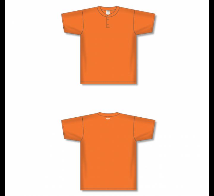 Two-Button Baseball Jersey - Orange