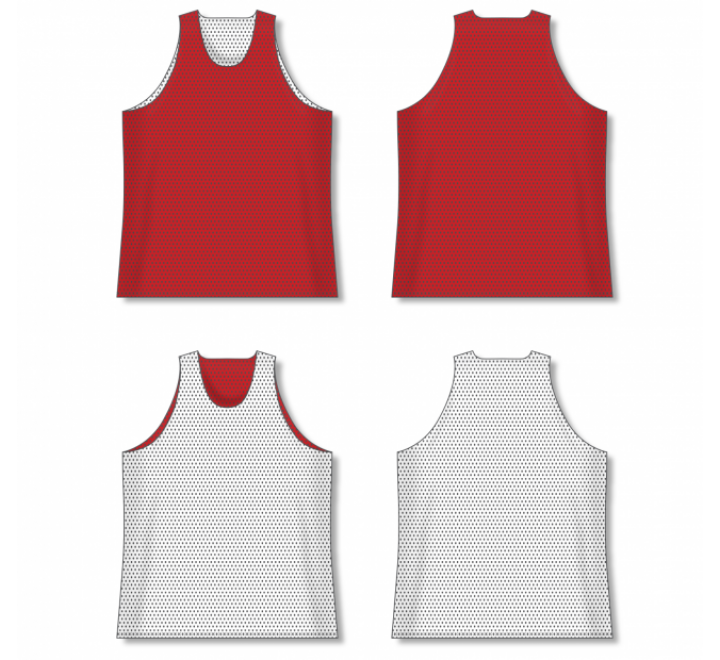 Polymesh TradItional Cut Reversible Basketball Jersey - Red