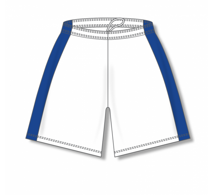 Dry-Flex with Side Inserts Basketball Shorts - White/Royal