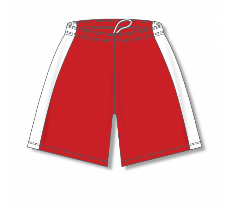 Dry-Flex with Side Inserts Basketball Shorts - Red