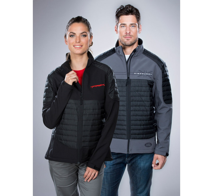 Women's 3-Layer Performance Softshell Jacket with Bonded Fleece Lining and Quilting