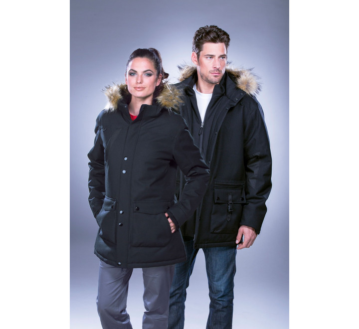 Women's Heavyweight Winter Jacket with Detachable Hood