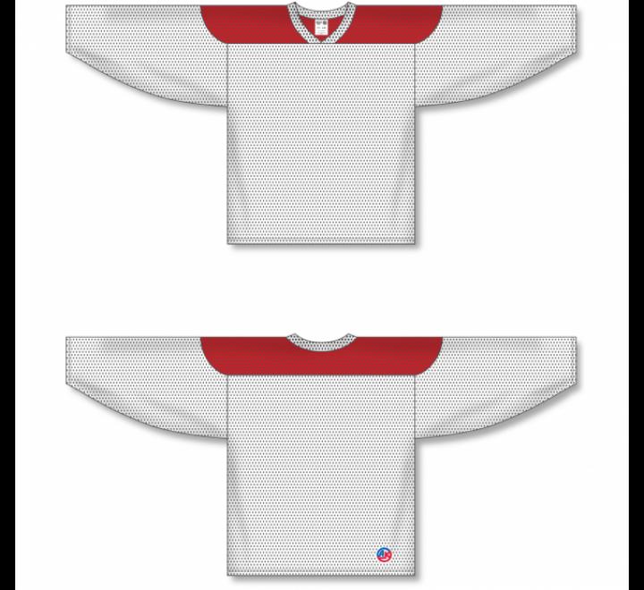 League Series Hockey Jerseys - White/Red