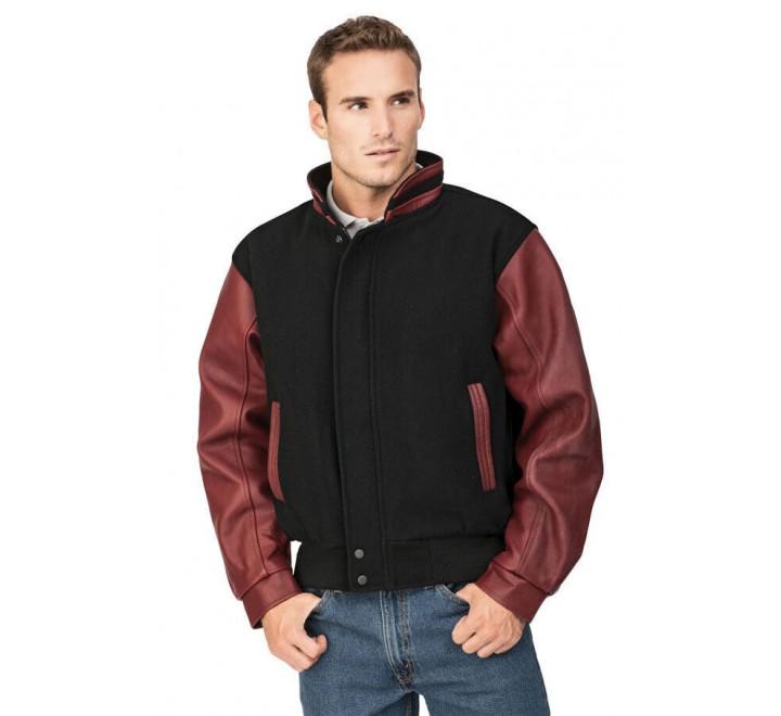 Graduate-Men's Melton and Leather Jacket