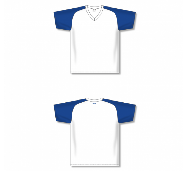 Custom Screen printed Soccer Jersey - White/Royal