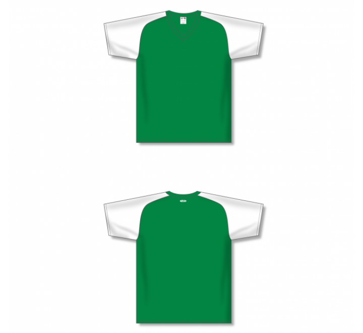 Custom Screen printed Soccer Jersey - Kelly/White