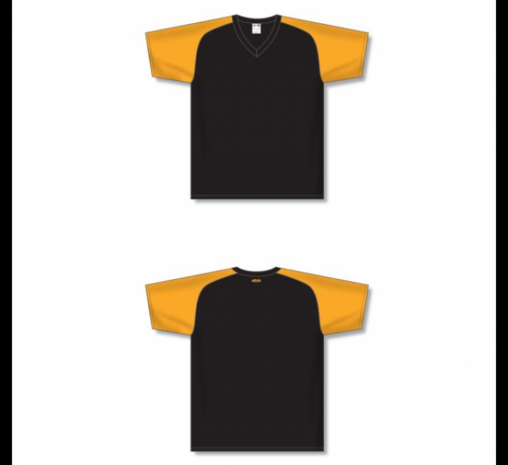 Custom Screen printed Soccer Jersey - Black/Gold
