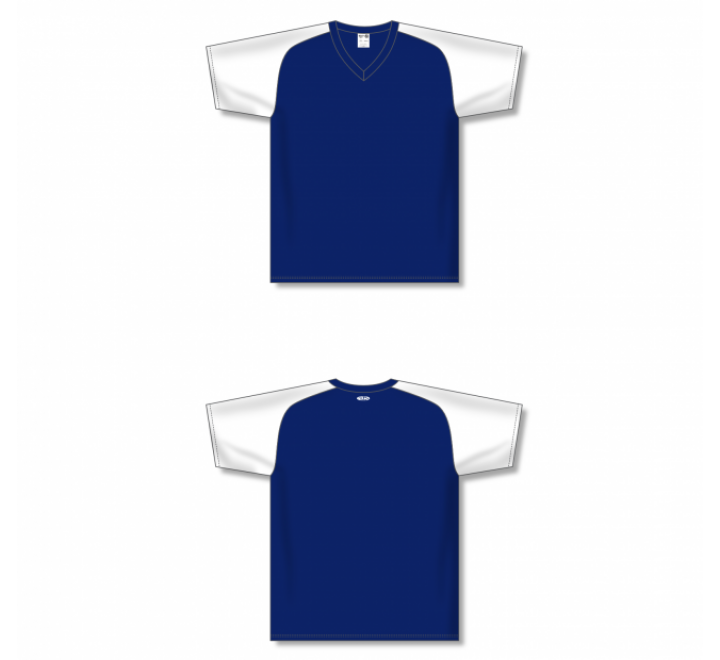 Custom Screen printed Soccer Jersey - Navy/White
