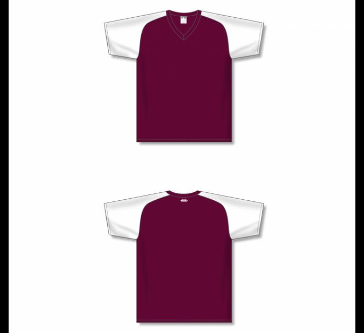 Custom Screen printed Soccer Jersey - Maroon/White