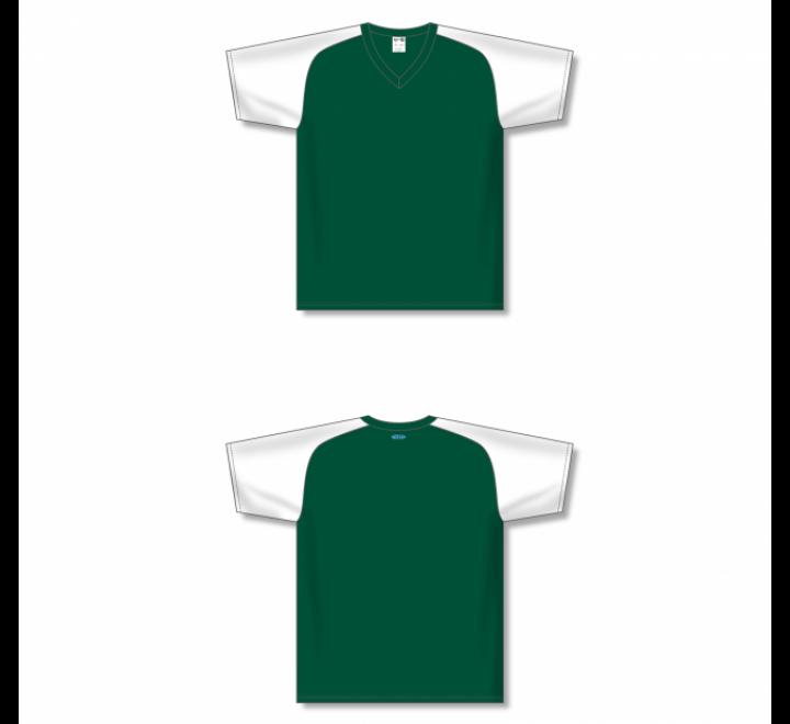 Custom Screen printed Soccer Jersey - Dark Green