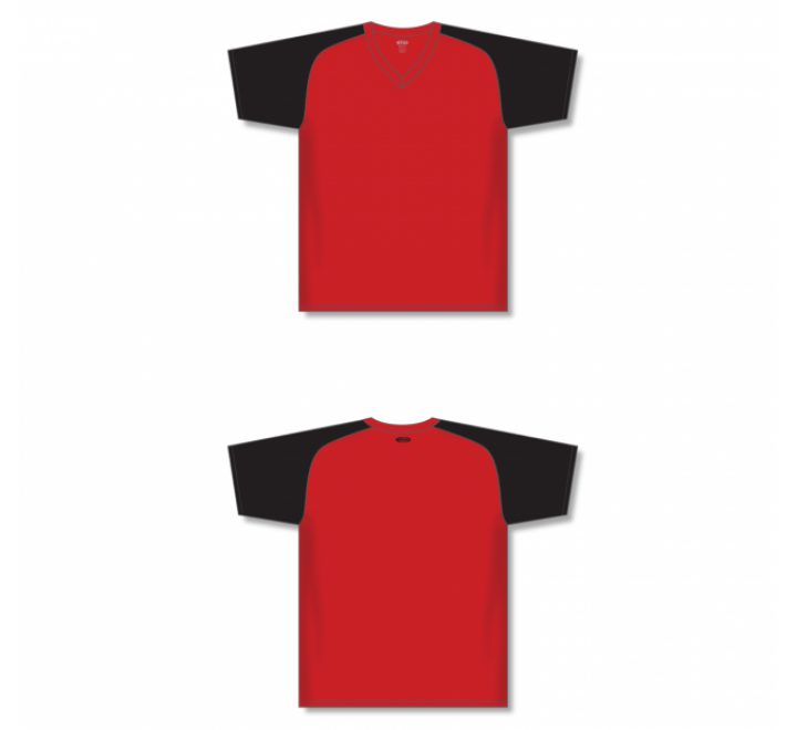 Custom Screen printed Soccer Jersey - Red/Black
