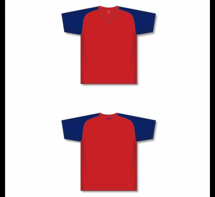 Custom Screen printed Soccer Jersey - Red/Navy