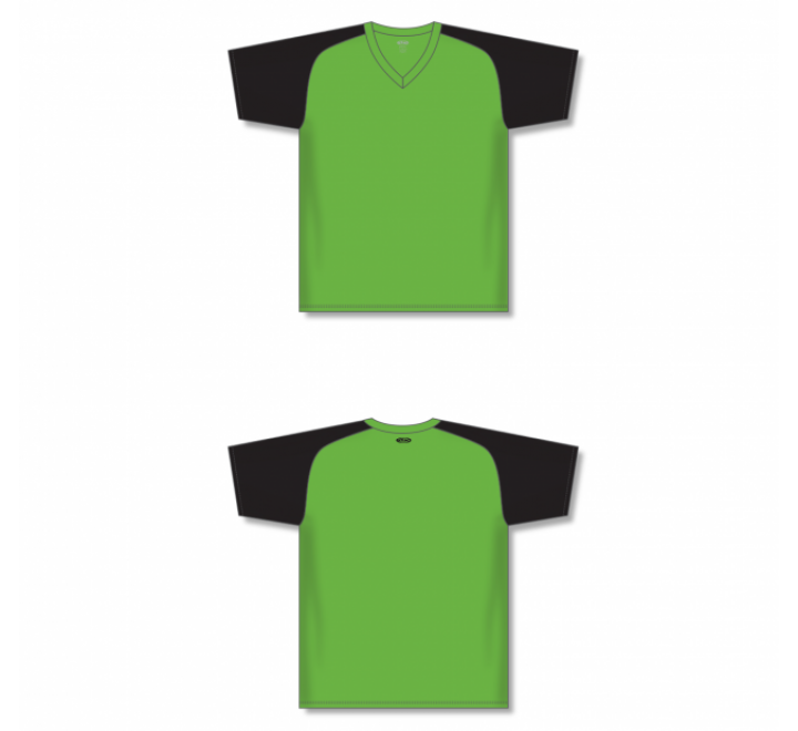 Custom Screen printed Soccer Jersey - Lime Green