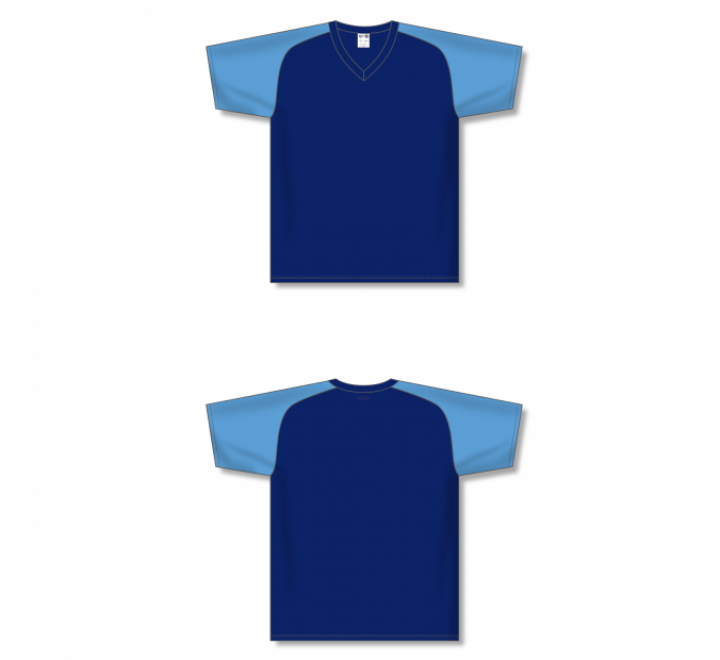 Custom Screen printed Soccer Jersey - Navy/Sky