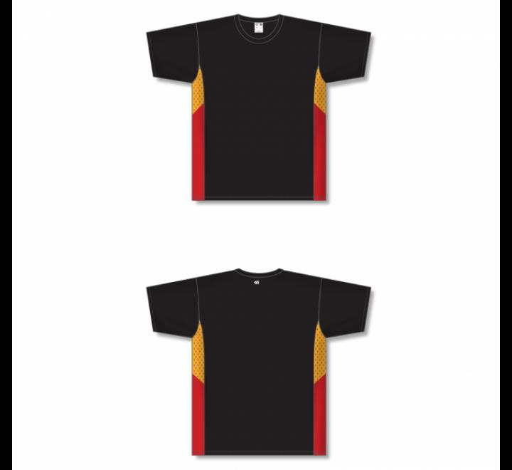Custom Screen printed Soccer Jersey - Black