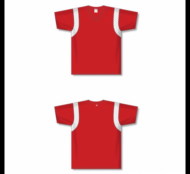 Custom Screen printed Soccer Jersey - Red/White