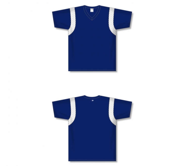 Custom Screen printed Soccer Jersey - Navy/White