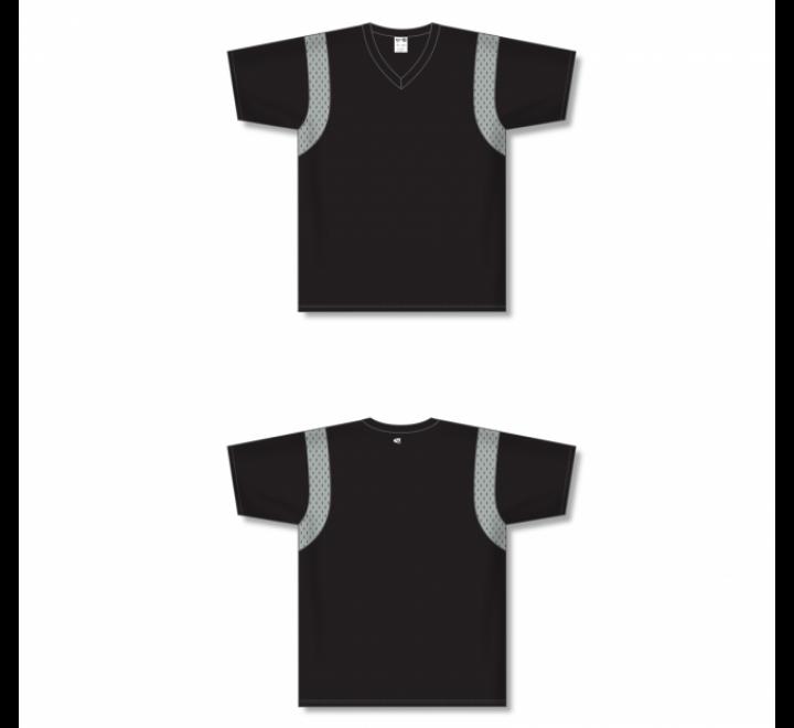 Custom Screen printed Soccer Jersey - Black/Grey