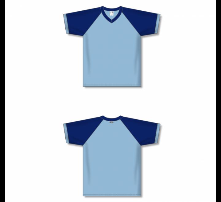 V-Neck Volleyball Jerseys - Powder/Navy