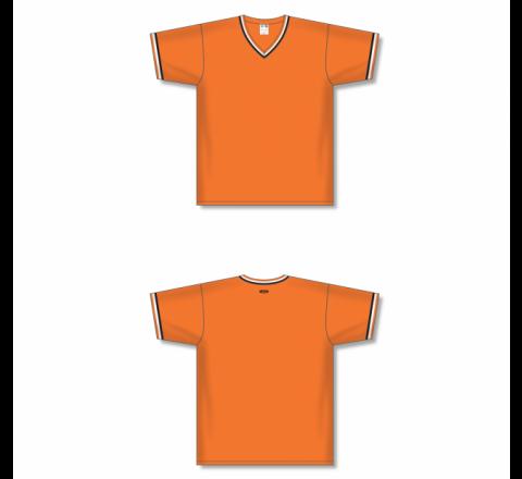 V-Neck Baseball Jersey - Orange