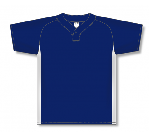 One Button Baseball Jerseys - Navy/White