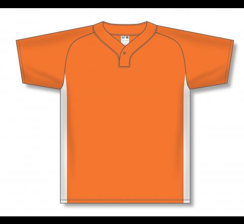 One Button Baseball Jerseys - Orange/White