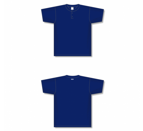 Two-Button Baseball Jersey - Navy