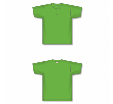 Two-Button Baseball Jersey - Lime Green