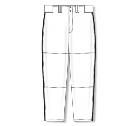 Baseball Pants - White/Black