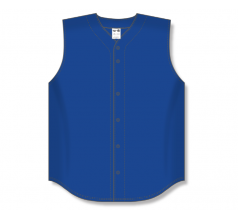 Full Button Baseball Jerseys - Royal