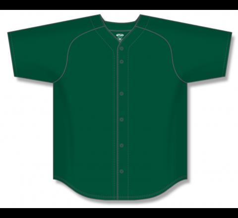 Full Button Baseball Jerseys - Dark Green