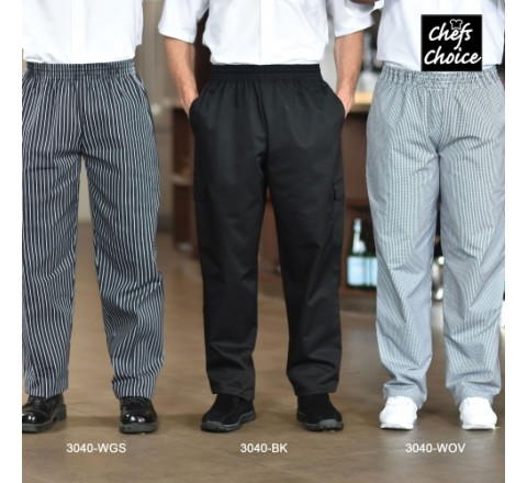Chef Pants - Baggy with Elastic Waist