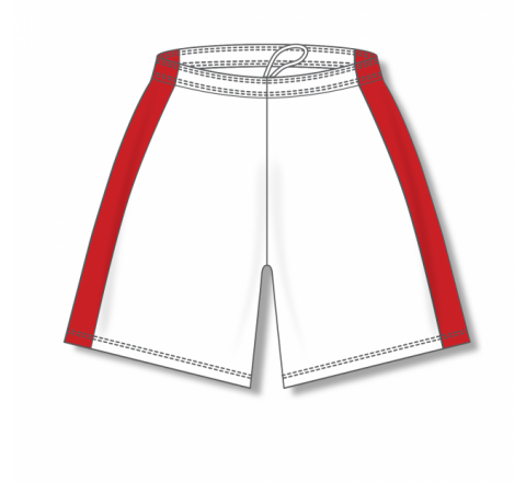 Dry-Flex with Side Inserts Basketball Shorts - White/Red