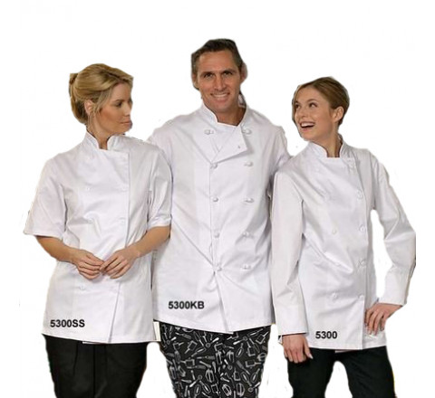 Chef Coats - Econo White Only 65/35 Poly/Cotton