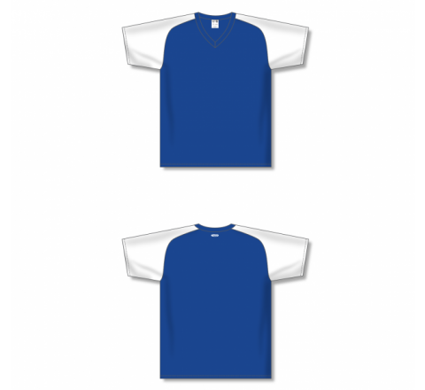 Custom Screen printed Soccer Jersey - Royal/White