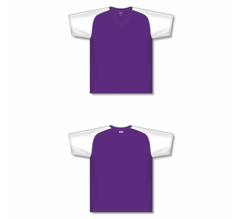 Custom Screen printed Soccer Jersey - Purple/White