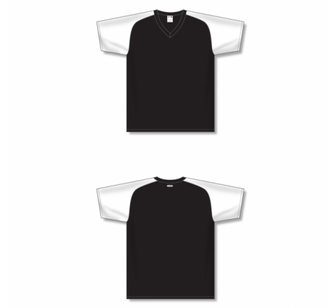 Custom Screen printed Soccer Jersey - Black/White