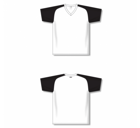 Custom Screen printed Soccer Jersey - White/Black