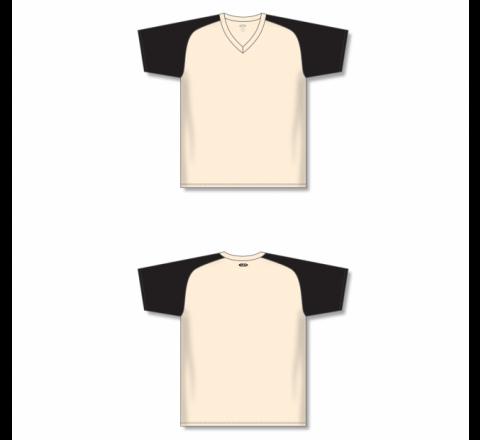 Custom Screen printed Soccer Jersey - Sand/Black