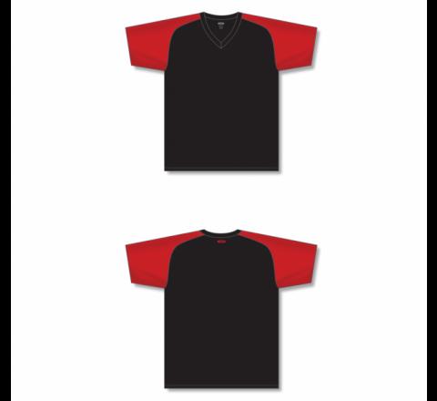 Custom Screen printed Soccer Jersey - Black/Red